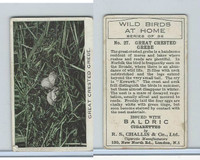C51-2 Challis, Wild Birds At Home, 1935, #27 Great Crested Grebe Eggs