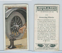 B116-0 BAT, Hints & Tips Motorists, 1929, #20 Removing Wheels