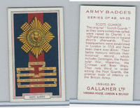 G12-72 Gallaher, Army Badges, 1939, #25 Scots Guards