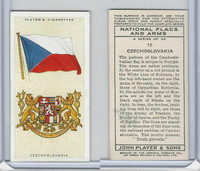 P72-171 Player, National Flags & Arms, 1936, #12 Czechoslovakia