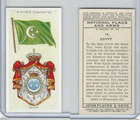 P72-171 Player, National Flags & Arms, 1936, #14 Egypt