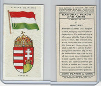 P72-171 Player, National Flags & Arms, 1936, #21 Hungary
