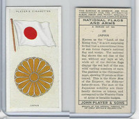 P72-171 Player, National Flags & Arms, 1936, #26 Japan