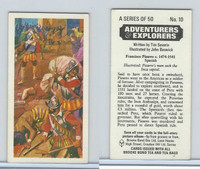 B0-0 Brooke, Adventurers & Explorers, 1973, #10 Francisco Pizarro