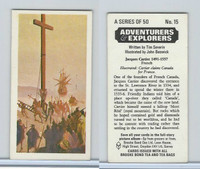 B0-0 Brooke, Adventurers & Explorers, 1973, #15 Jacques Cartier