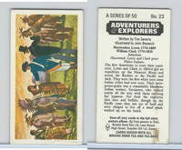 B0-0 Brooke, Adventurers & Explorers, 1973, #23 Meriwether Lewis