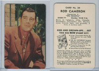 D77 Mother's Cookies, Television & Radio Stars, 1953, #24 Rod Cameron