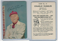 D77 Mother's Cookies, Television & Radio Stars, 1953, #41 Charlie Ruggles