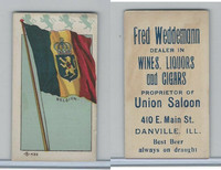 H627 Weddemann, National Flags, 1898, Belgium