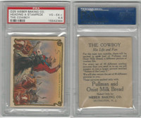 D25 Weber Baking, The Cowboy, His Life, 1920, Stampede, PSA 4.5 VGEX+