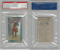 N303 Mayo, Costumes of Warriors & Soldiers, 1892, Officer Of Hussars, PSA 4 VGEX