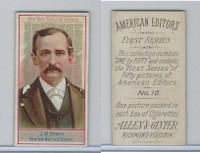 N1 Allen & Ginter, American Editors, 1888, #10 J.M. Bundy, New York Mail