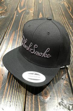 Burnt Out Black Smoke Apparel Snap Back