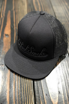Burnt Out 3D Puff Black Smoke Snap Back