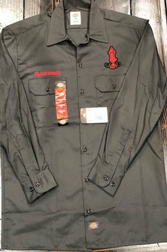 Dickies Black Smoke Work Shirt