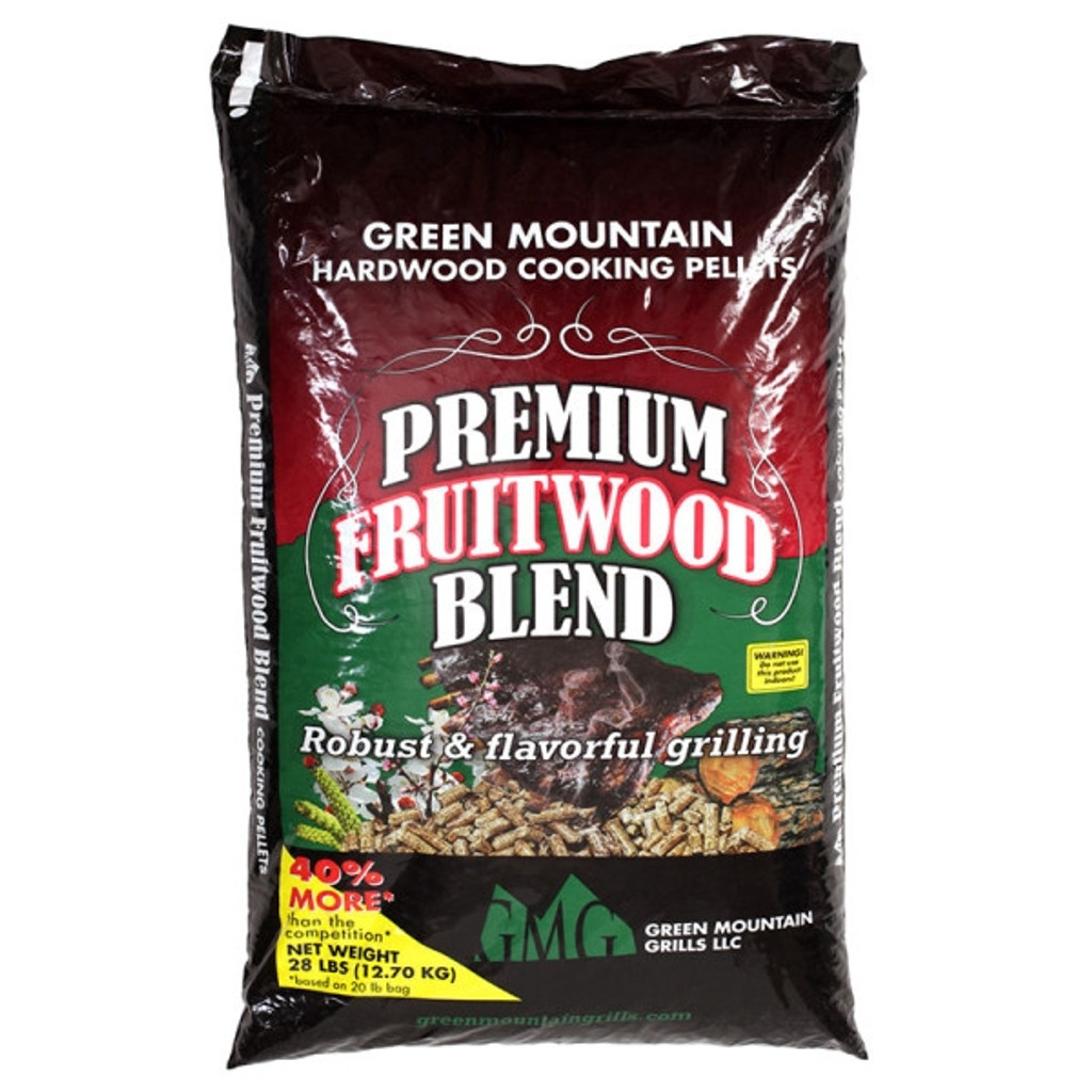 GREEN MOUNTAIN GRILLS FRUITWOOD PELLETS 28 LB BAG