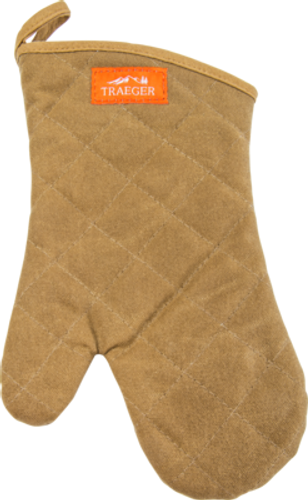 TRAEGER PELLET GRILL APP195 BROWN CANVAS & LEATHER BBQ MITT