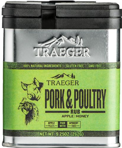 TRAEGER SPC171 PORK AND POULTRY RUB 9.25 OUNCE TIN