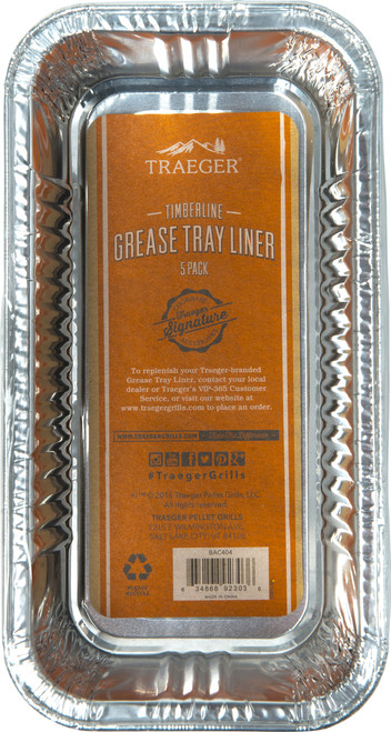 TRAEGER GRILLS BAC404 TIMBERLINE GREASE  DRIP PAN LINER