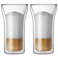 Bodum Assam 2 Pcs Glass Double Wall Large