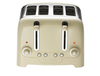 Dualit 46202 4 Slot Lite Peek N Pop Toaster in Gloss Cream