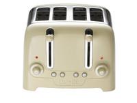 Dualit 46202 4 Slot Lite Peek N Pop Toaster in Gloss Cream