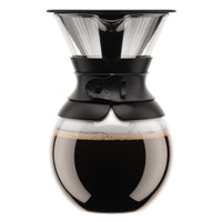 Bodum Pour Over Coffee Maker With Permanent Filter 1 Litre Black