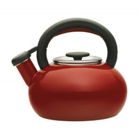 Prestige Enamel Stove Top Kettle 1.4 Litre in Red