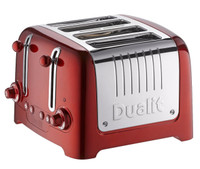 Dualit 4 Slot Lite Metallic Toaster in Red