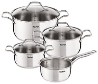 Tefal Intuition Polished Stainless Steel Pan Set of 7