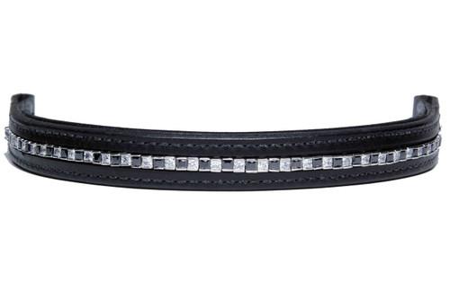 Browband Squares Black Clear Design