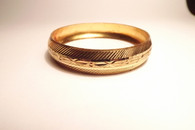 Golden Etched Bracelet