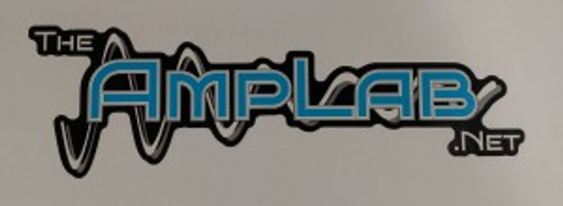 "Amp Lab decal 2.5""x8"""