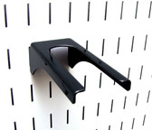 Scratch & Dent 1-1/4in Slotted Metal Pegboard Hammer Handle Bracket - Black