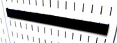 Scratch & Dent 14in Slotted Metal Pegboard Wall Control Accessory Hanger - Black