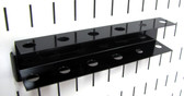 Scratch & Dent Slotted Metal Pegboard Screwdriver Holder - Black