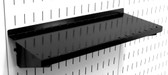 3 Pack of Scratch & Dent 6in Deep Wall Control Pegboard Shelves in Black