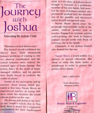 The Journey with  Joshua   Educating my Autistic Child