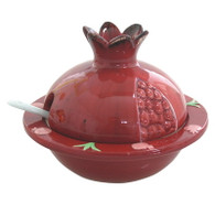 CERAMIC POMEGRANATE HONEY DISH