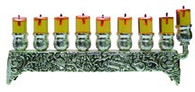 Silver plate Oil Menorah, Compact | 30232