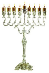 Silver plate Oil Menorah, Large | 30235