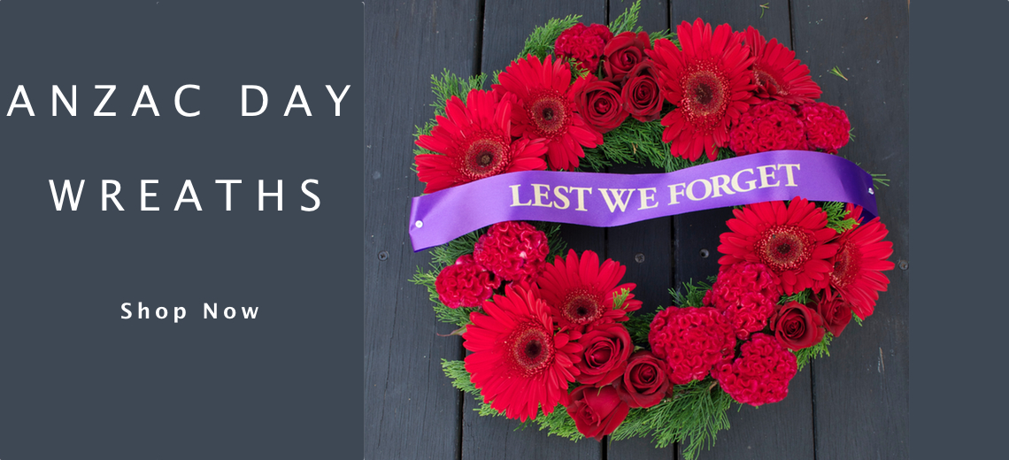 Gold coast florist flowers at the door anzac day wreaths quot lest we