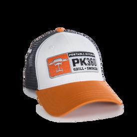 The new PK360 6-panel trucker hat.