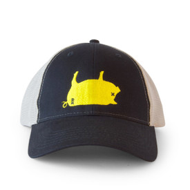 PK Pig Hat Yellow/Navy/Grey