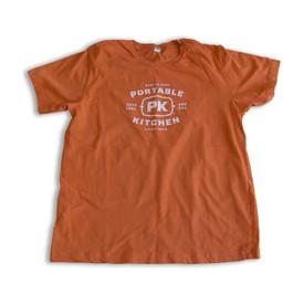 New PK Logo Tee - Orange White