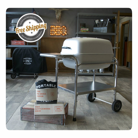 The Amazing Bundle from PK Grills includes a PK Grill and Smoker, a PK cover and a Littlemore grid.