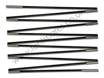 Gelert Beyond Corvus 5+2 Black Fibreglass Roof Pole