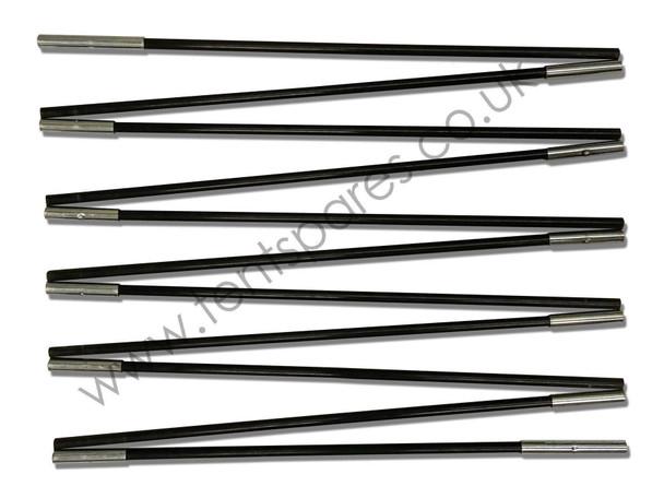 Coleman Cortes 6 Black Coded Fibreglass Front/Rear Pole