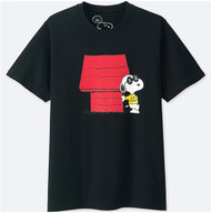Kaws x Peanuts Snoopy's House Black Tee