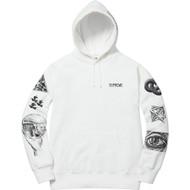 Supreme M.C. Escher Hooded Sweatshirt White